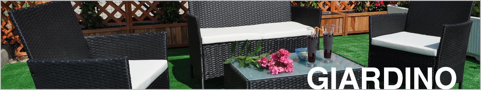 Dondolo da giardino 3 posti con tettuccio regolabile mod. Barbados Dondoli