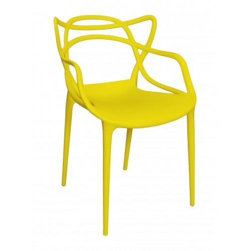 Sedia in plastica bianca con gamba, piede in legno, ispirata a Eames Torre Eiffel Arredo