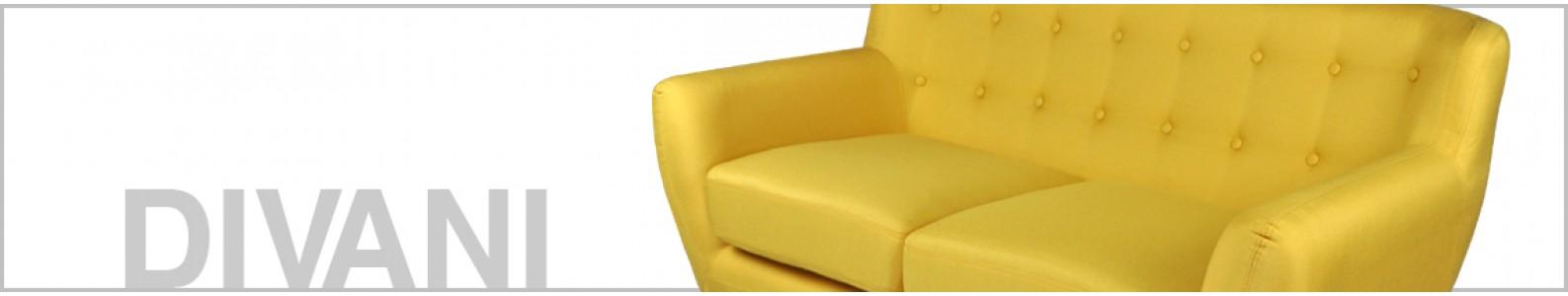 Divano 2 posti in tessuto giallo dallo stile scandinavo mod. Emily Arredo