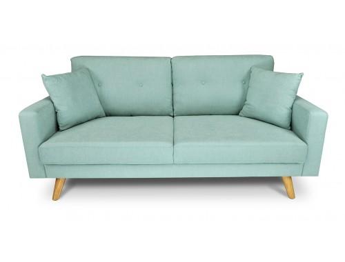 Divano 3 posti in tessuto vellutato verde Tiffany mod. Chloe Arredo