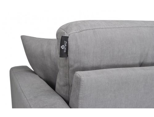 Divano 3 posti in tessuto vellutato grigio mod. Chloe Arredo