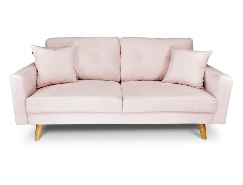 Divano 3 posti in velluto rosa mod. Chloe Arredo