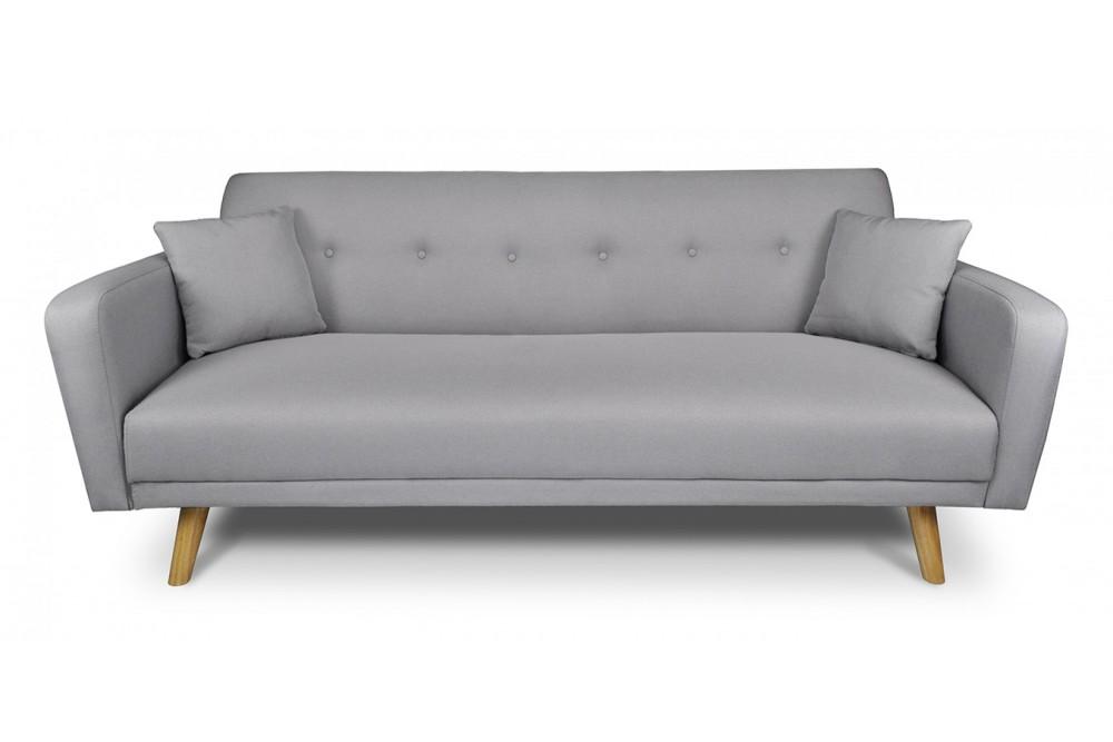 Divano letto clic clac in tessuto grigio, divano 3 posti mod. Henry Arredo