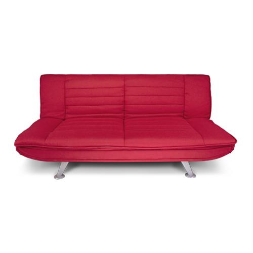 Divano letto clic clac in microfibra rosso, divanetto Russell Arredo