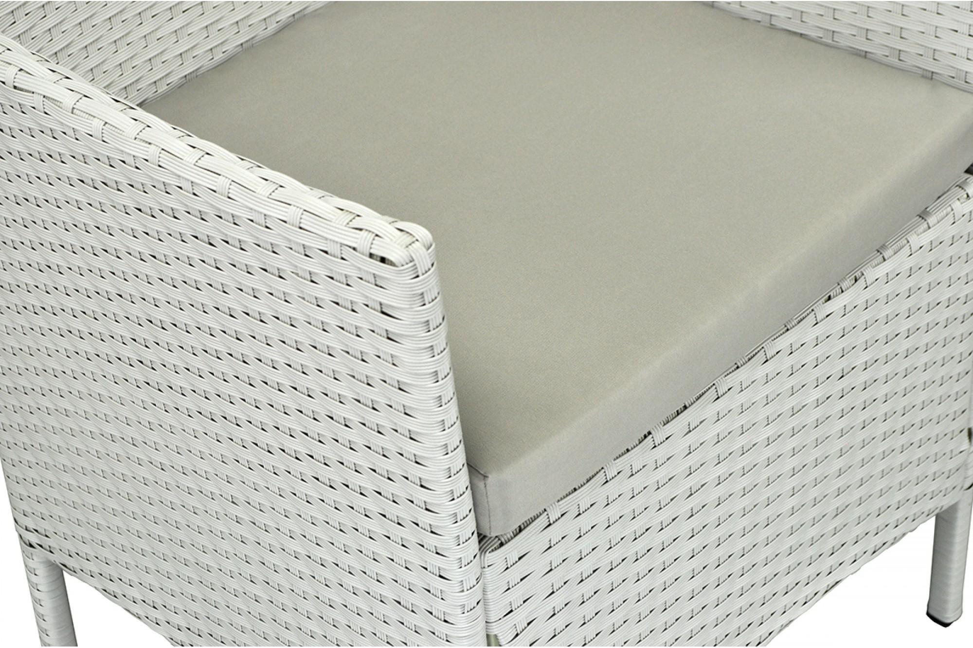 Salotto Rattan Sintetico Bianco.Salotto Da Giardino In Rattan Set Di Divani Da Esterno In