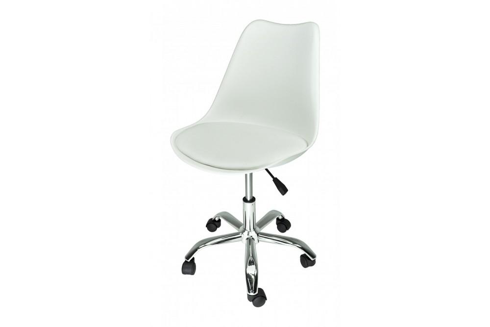 Sedia da ufficio girevole, sedia da scrivania bianca con rotelle mod. SALLY Novità 2020