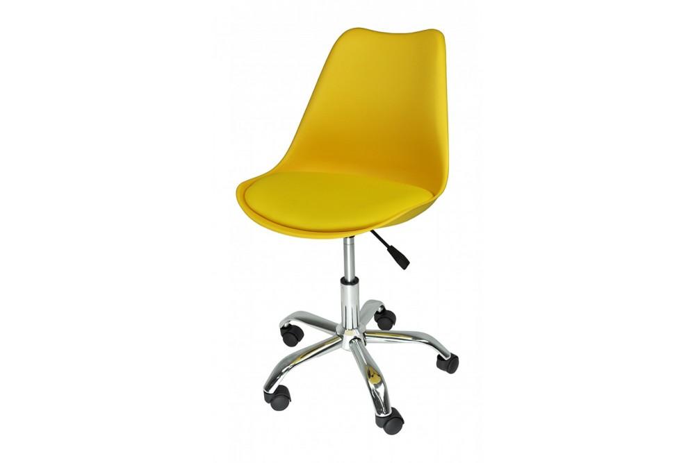Sedia da ufficio girevole, sedia da scrivania gialla con rotelle mod. SALLY Novità 2020