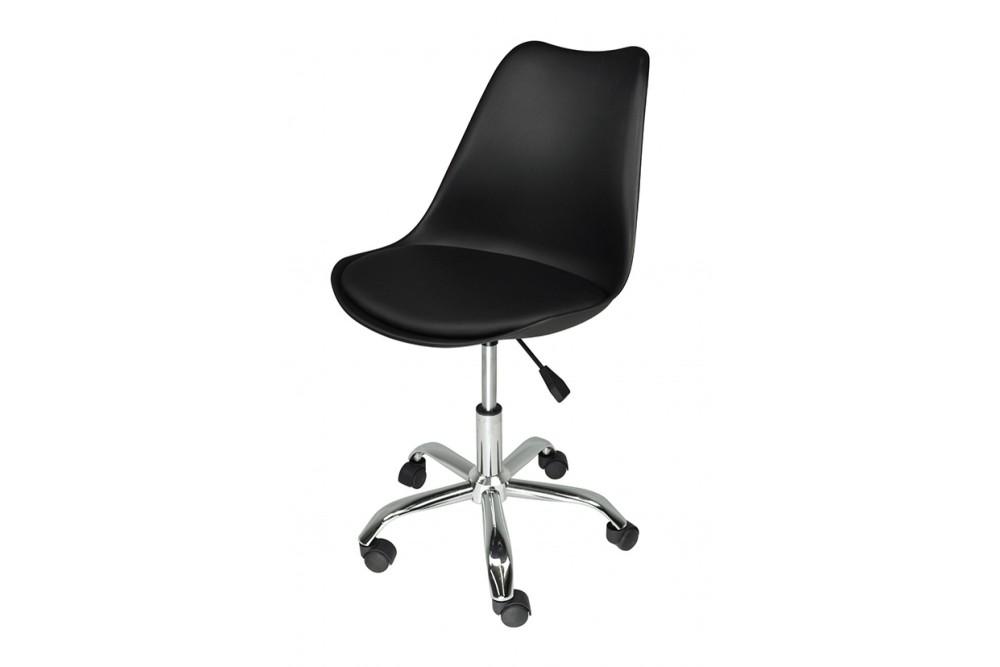 Sedia da ufficio girevole, sedia da scrivania nera con rotelle mod. SALLY Novità 2020