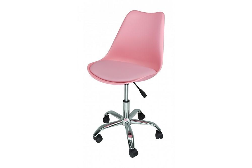 Sedia da ufficio girevole, sedia da scrivania rosa con rotelle mod. SALLY Novità 2020