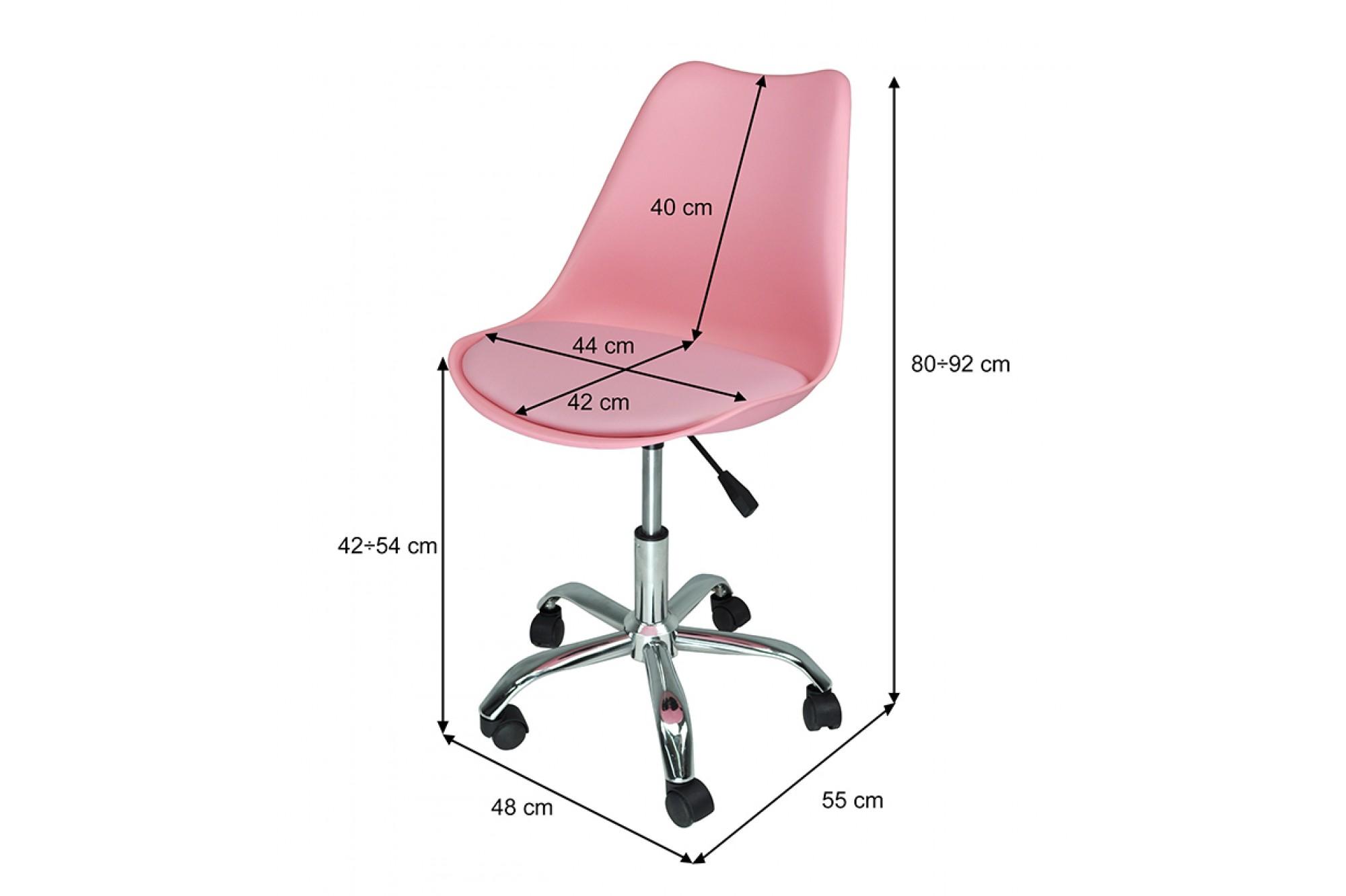 Sedia da ufficio girevole, sedia da scrivania rosa con ...