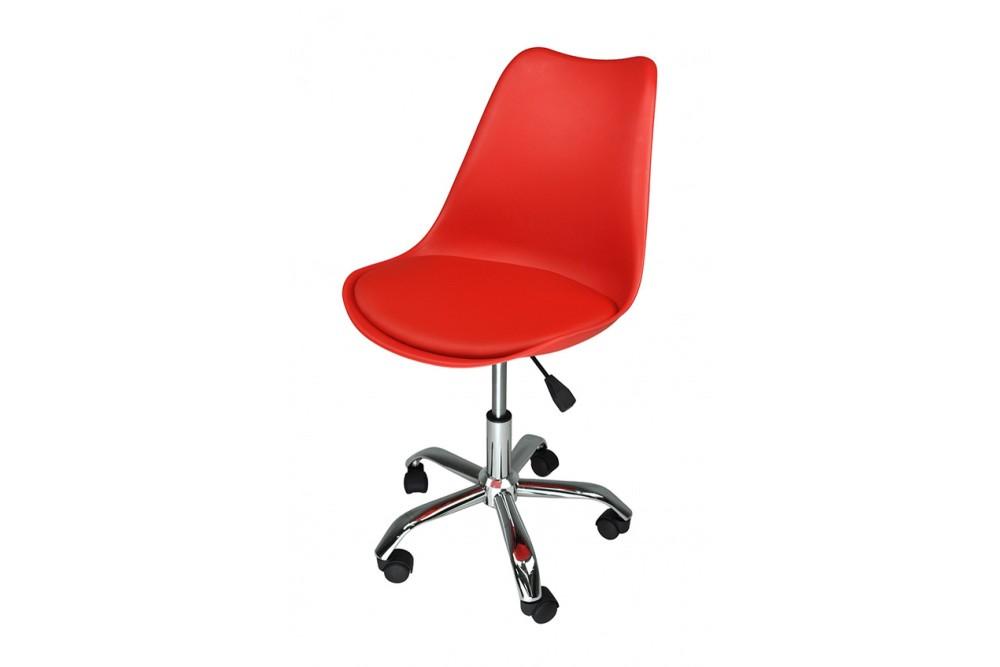 Sedia da ufficio girevole, sedia da scrivania rossa con rotelle mod. SALLY Novità 2020