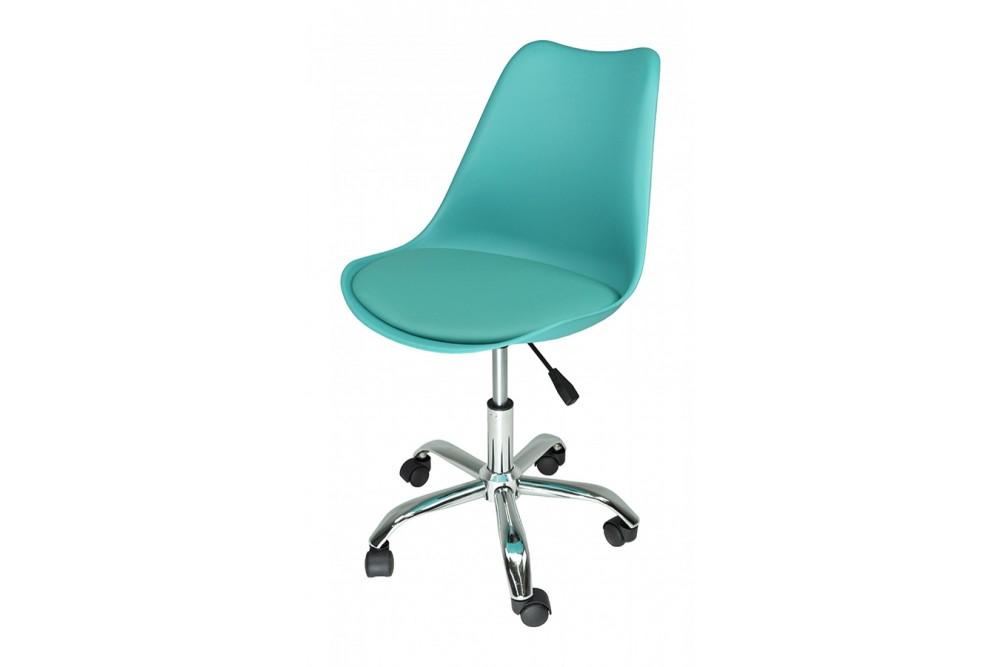 Sedia da ufficio girevole, sedia da scrivania turchese con rotelle mod. SALLY Novità 2020
