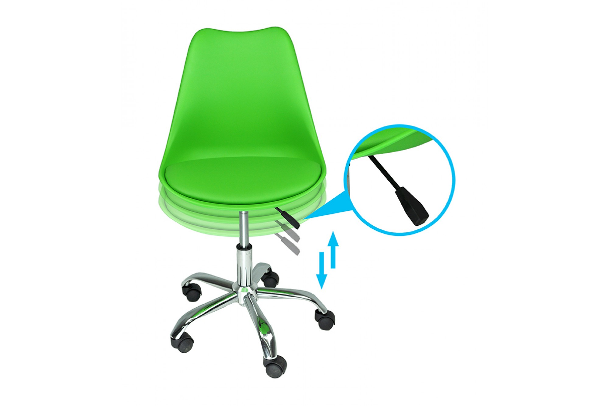 Sedia da ufficio girevole, sedia da scrivania verde con ...