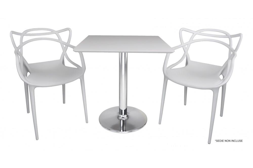 Tavolo quadrato 70×70 bianco, tavolino da bar mod. Romeo Arredo