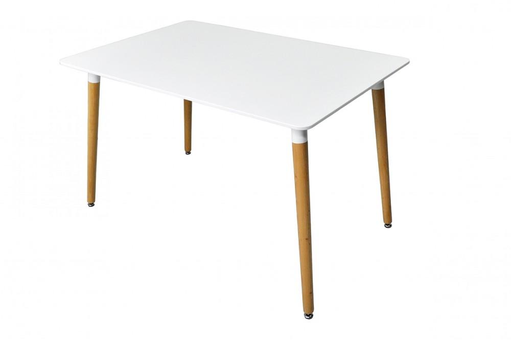 Tavolo da pranzo rettangolare, tavolo da cucina bianco mod. Otello Arredo