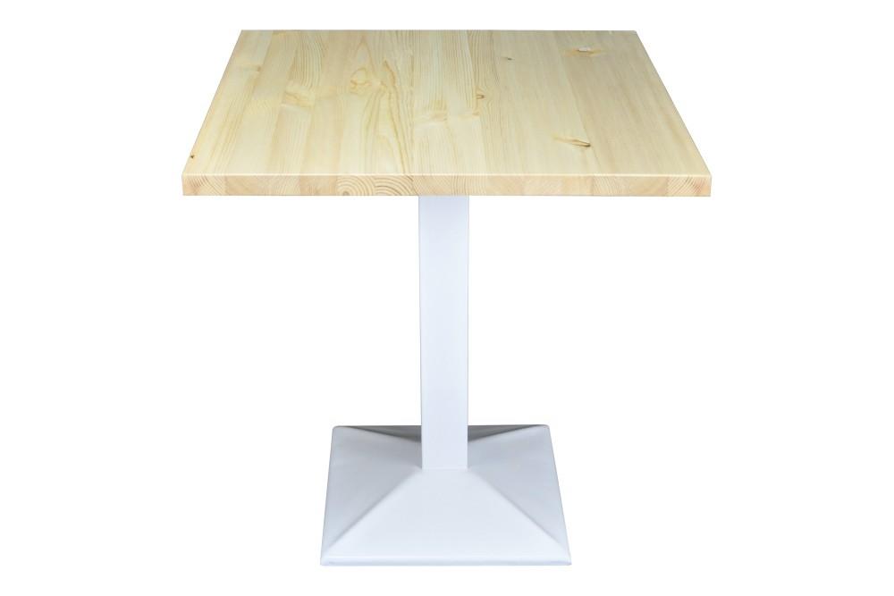 Tavolo quadrato 70×70 stile industriale con top in legno naturale mod. Clint Tavoli e Tavolini