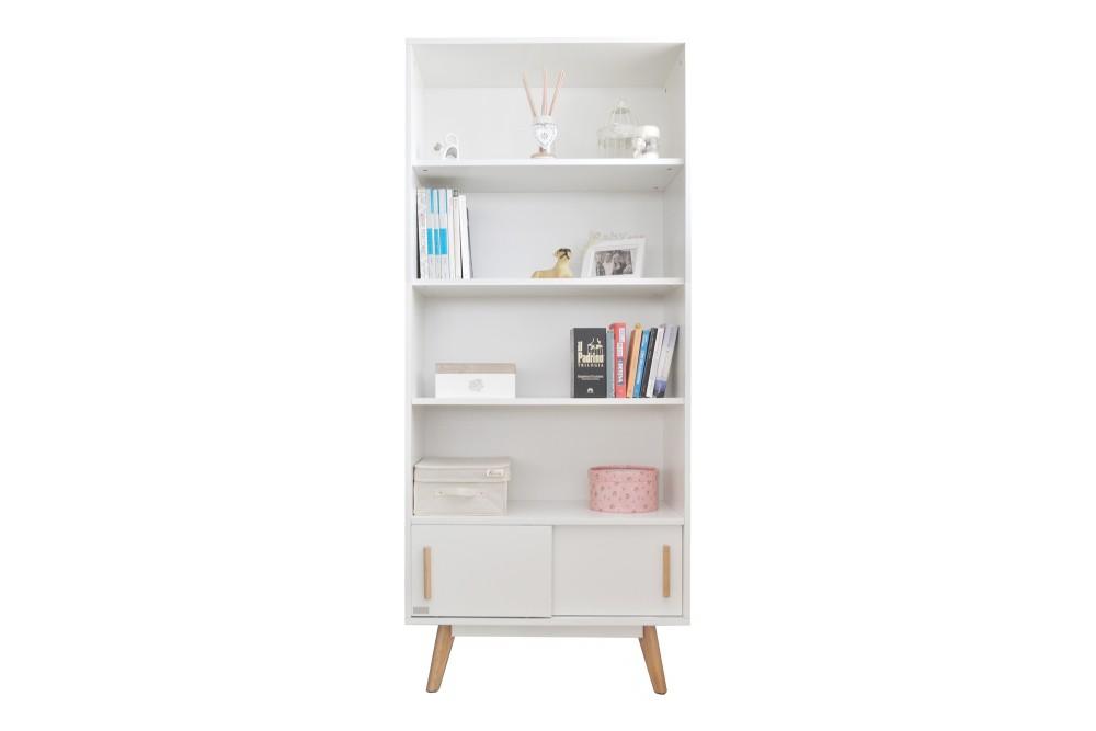 Scaffale libreria moderna in stile nordico colore bianco Mobili