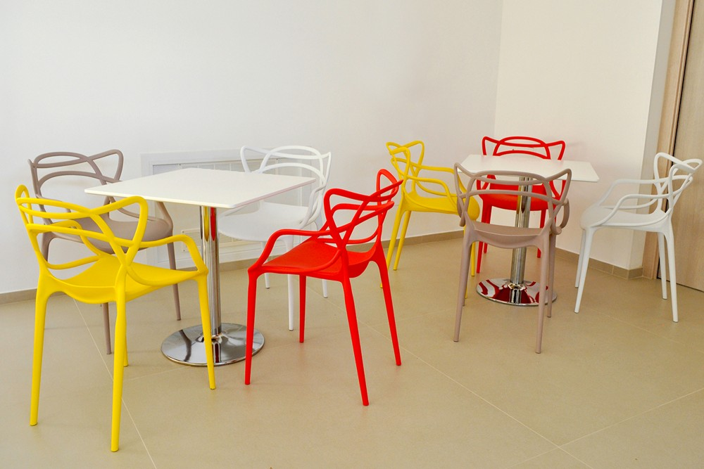 Tavolo quadrato 80×80 bianco, tavolino da bar mod. Romeo Arredo