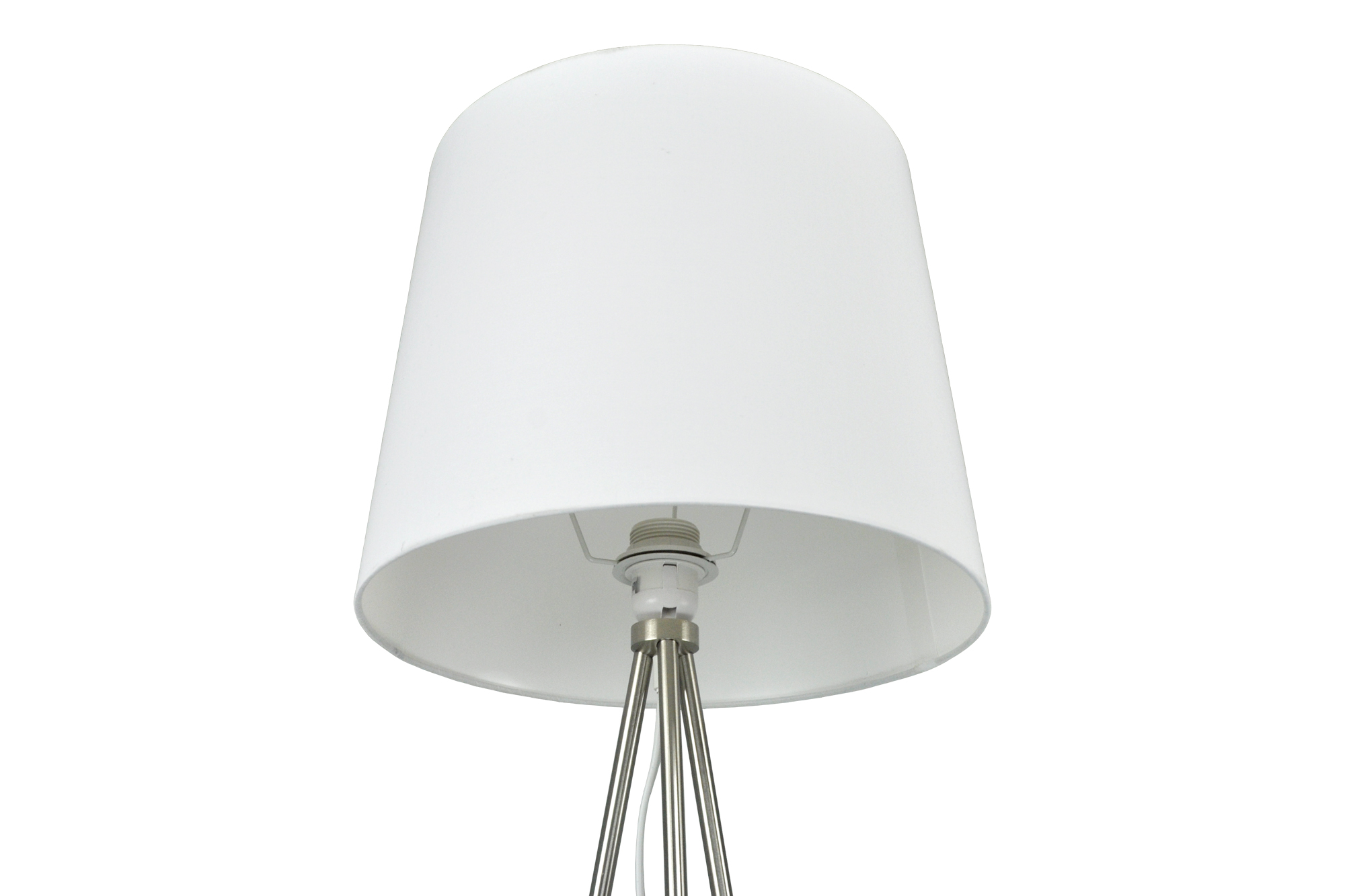 Bianco lux.pro Lampada da Terra in Stile Treppiedi con Base in Metallo e Paralume in Tessuto E27 60W Piantana a Terra