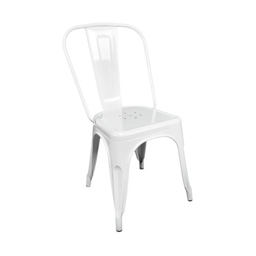 Sedia con braccioli scandinava bianca mod. Dorina Arredo