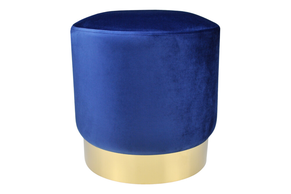 Pouf in velluto blue, poggiapiedi mod. Zivago Arredo