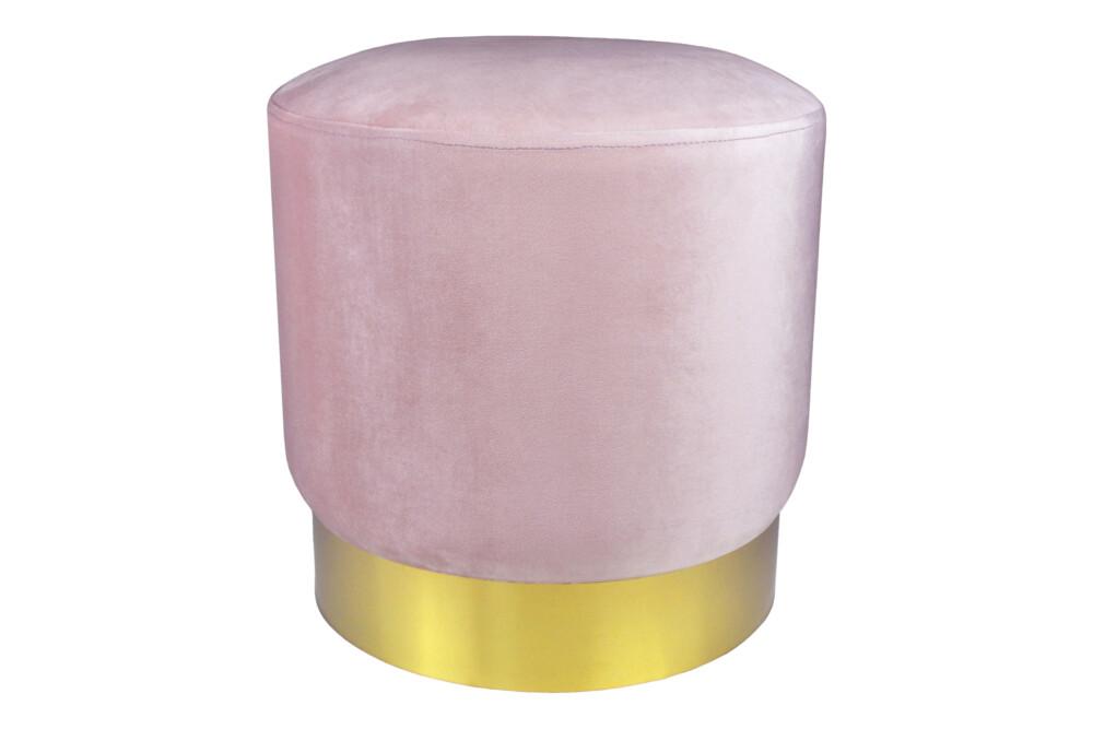 Pouf in velluto rosa, poggiapiedi mod. Zivago Arredo