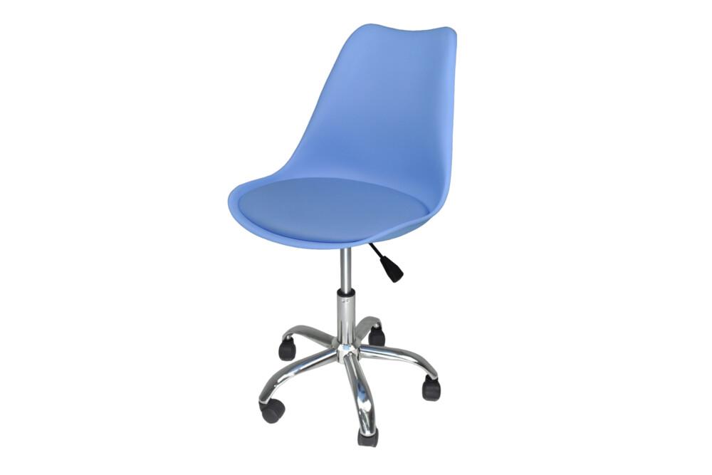 Sedia da ufficio girevole, sedia da scrivania celeste con rotelle mod. SALLY Novità 2020