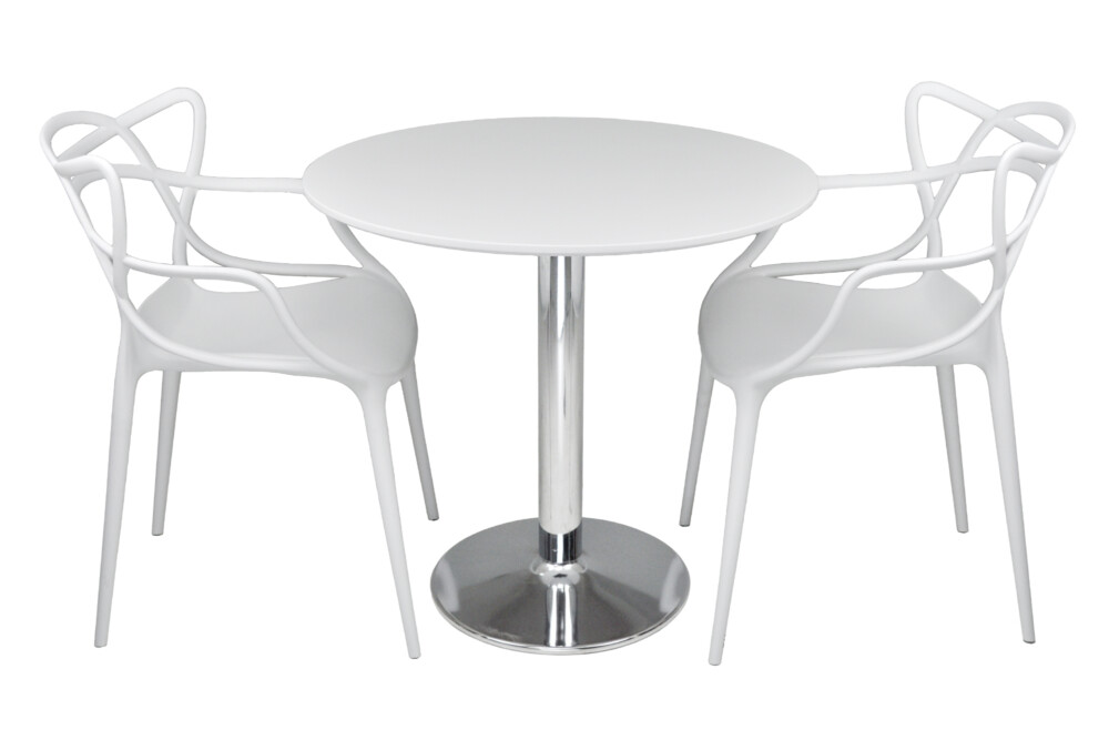 Tavolo rotondo 80 cm bianco, tavolino da bar mod. Romeo Arredo