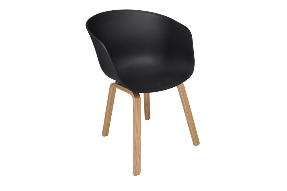 Sedia con braccioli scandinava nera mod. Dorina - Samira ...
