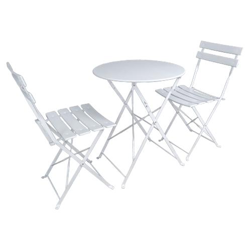 Set tavolo e sedie da giardino pieghevoli, set tavolo e sedie da esterno bianco mod. Positano Giardino