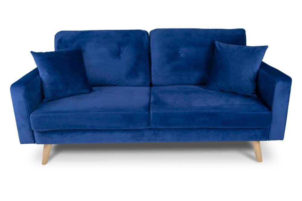 Divano 3 posti in velluto blu mod. Chloe Arredo