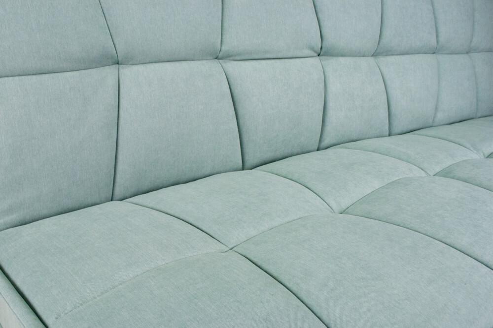 Divano Letto Clic Clac In Tessuto Vellutato Verde Tiffany, Divano 3 Posti Mod. Bart Arredo