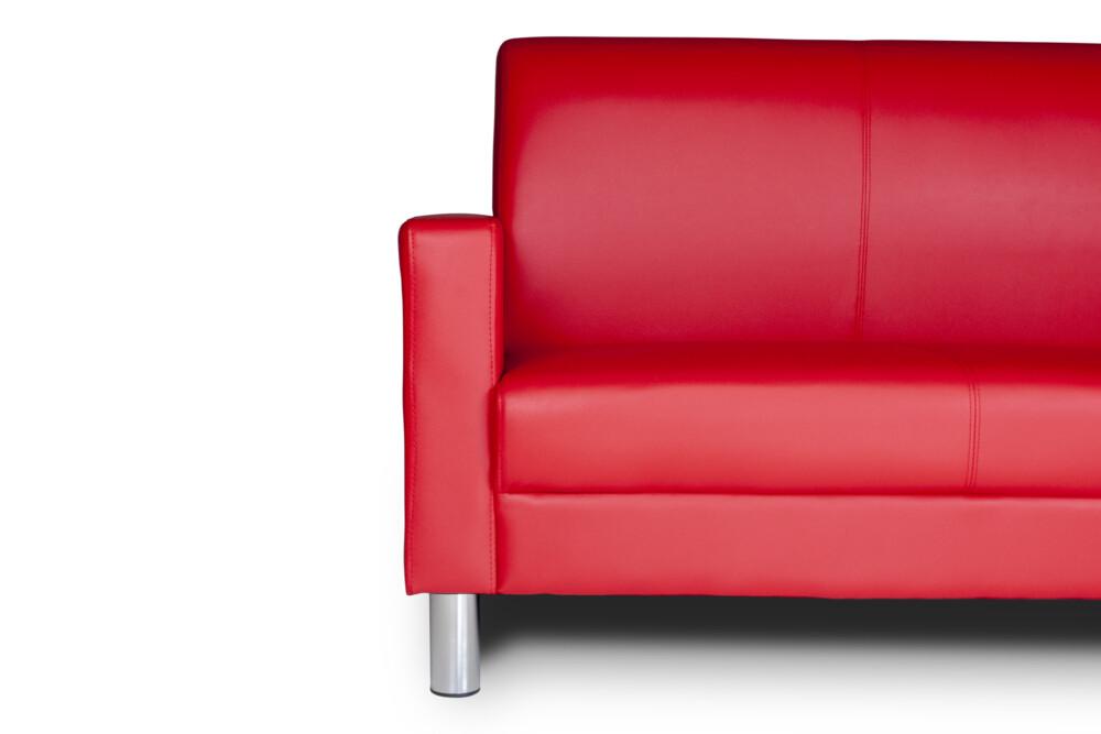 Divano 2 Posti In Ecopelle Rosso Mod. Charlie Arredo
