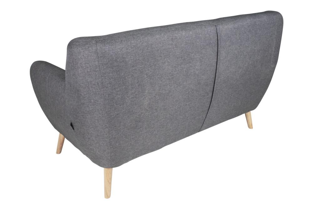 Divano 2 posti in tessuto grigio scuro dallo stile scandinavo mod. Emily Arredo