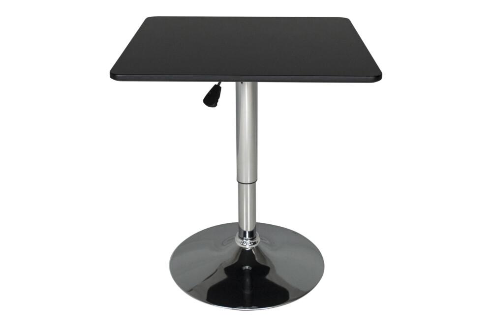 Tavolo regolabile in altezza quadrato 60×60 nero, tavolo alto da bar Romeo Arredo