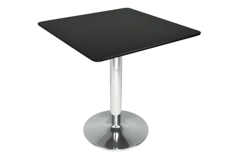 Tavolo quadrato 80×80 nero, tavolino da bar mod. Romeo Arredo
